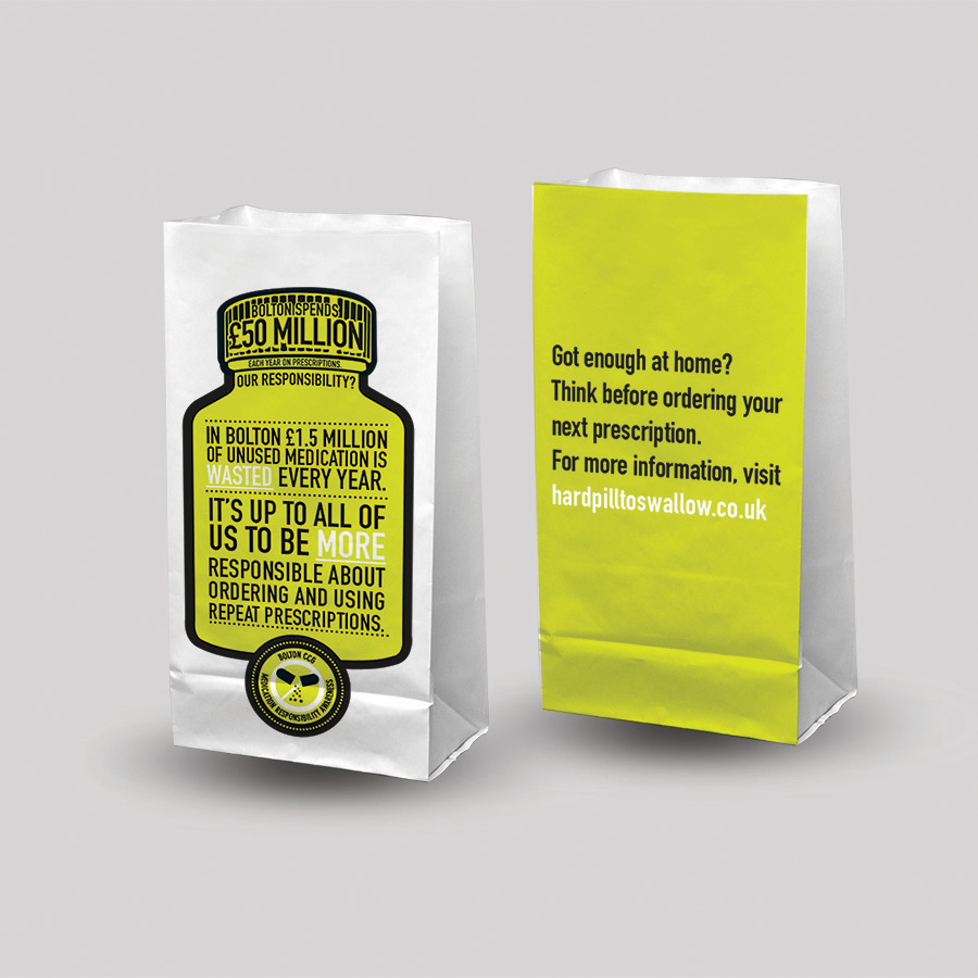 NHS Bolton Waste Medication campaign by Cube Creative - Cube Creative Ltd 196508f37e