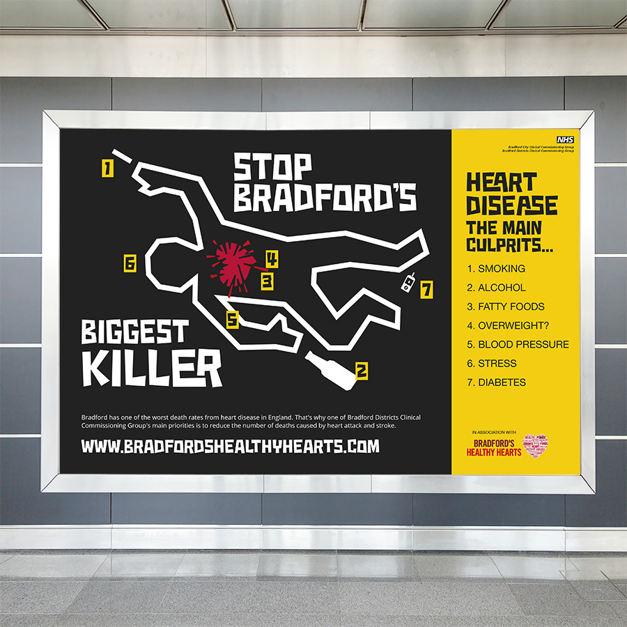 NHS Braford Healthy Hearts Campaign by Cube Creative