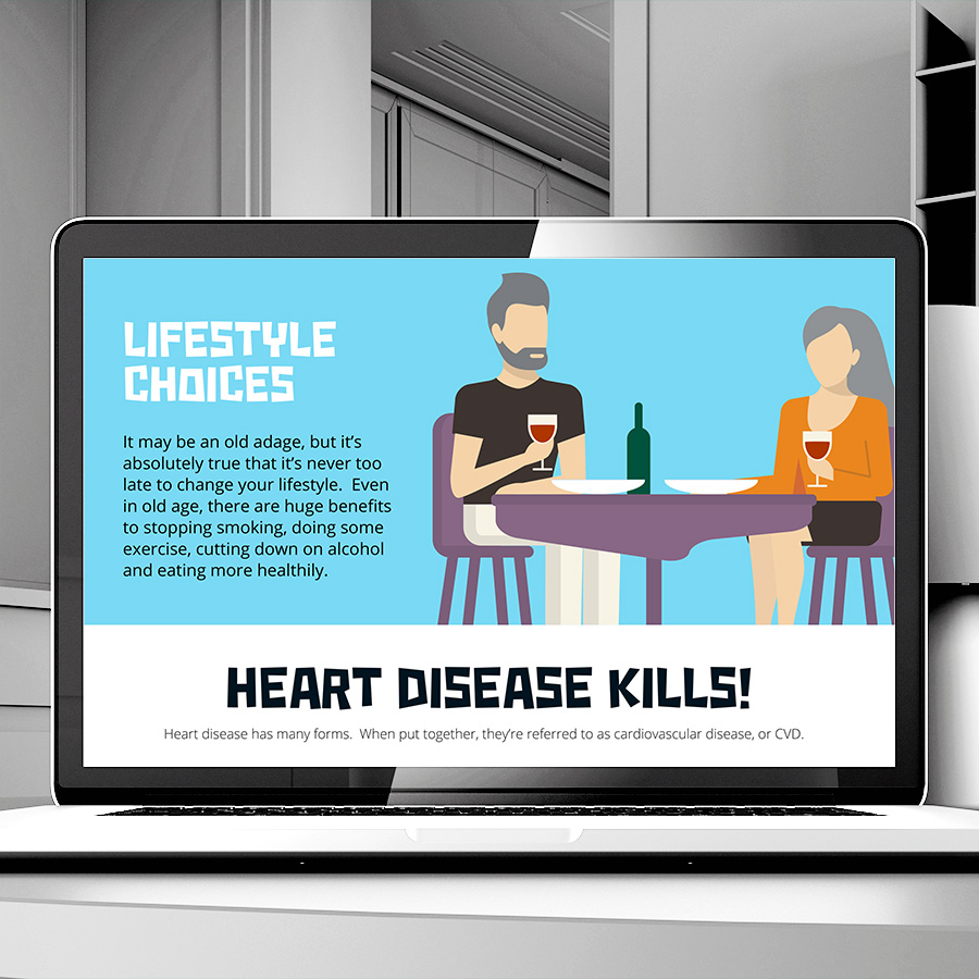 NHS Braford Healthy Hearts Website by Cube Creative