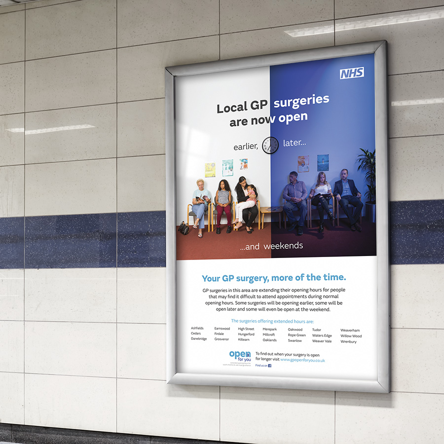 NHS Local GP opening house campaign by Cube Creative