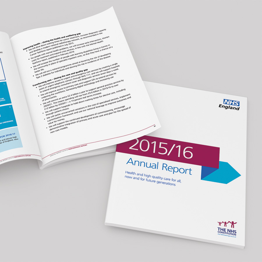 NHS England Annual Report by Cube Creative