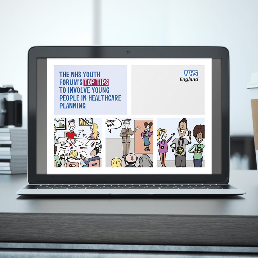 NHS England Top Tips Interactive PDF by Cube Creative