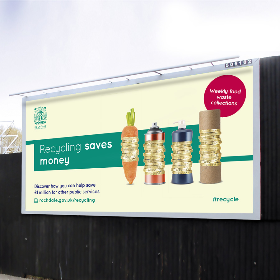 Award Winning Rochdale Council Recycling Campaign by Cube Creative