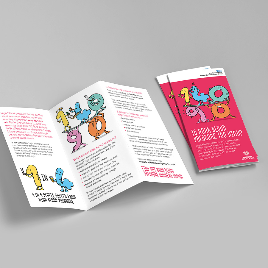NHS Braford Blood Pressure Leaflet by Cube Creative