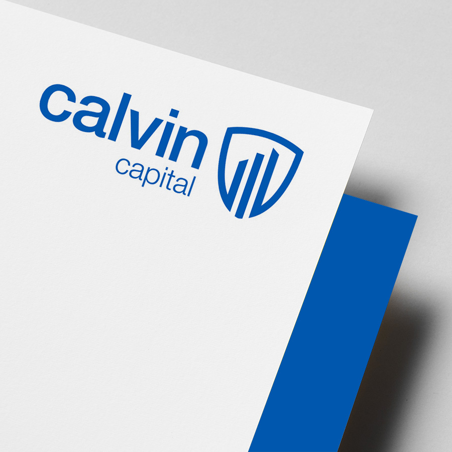 Calvin Capital brand / logo by Cube Creative