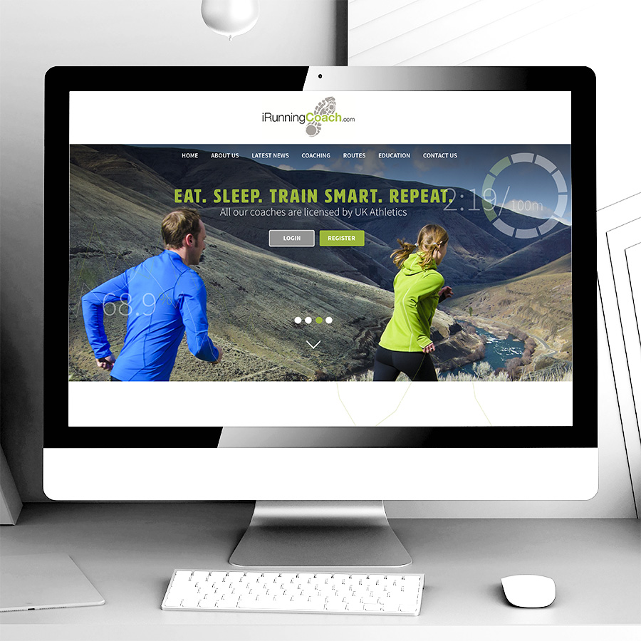 iRunning Coach Web Site Design and Build by Cube Creative