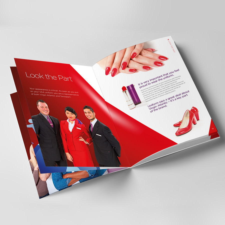 Swissport and Virgin Atlantic Staff hand book by Cube Creative