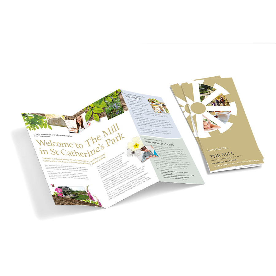 St Catherine's Park, The Mill Leaflet Design by Cube Creative