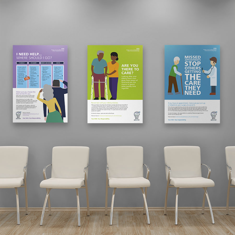 NHS Windsor, Ascot and Maidenhead CCG GP opening hours campaign by Cube Creative