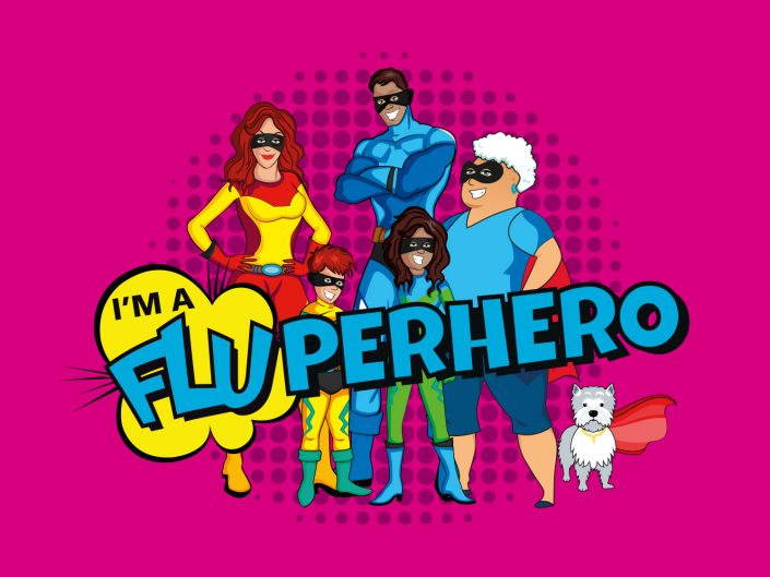 NHS Pennine Care - Fluperhero Campaign